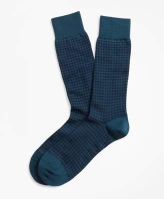 Brooks Brothers Houndstooth Crew Socks