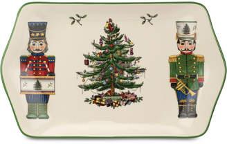 Spode Christmas Tree Nutcracker Dessert Tray, Created for Macy's