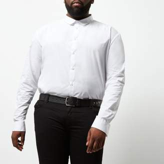 River Island Mens Big and Tall White slim fit smart shirt