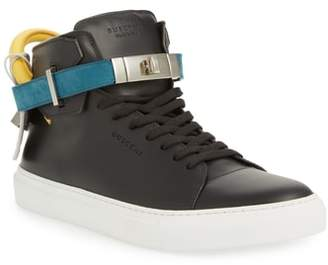 Buscemi Strapped High Top Sneaker