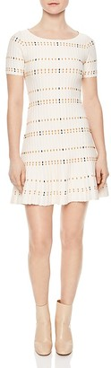 Sandro Before Textured Knit Dress $395 thestylecure.com