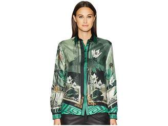 Versace Shirts - Verde + Stampa Button Up Blouse