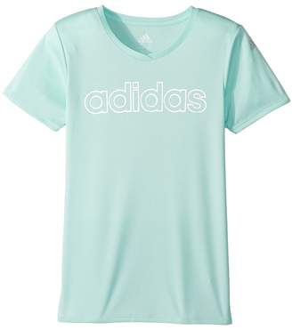 adidas Kids V-Neck Top Girl's T Shirt