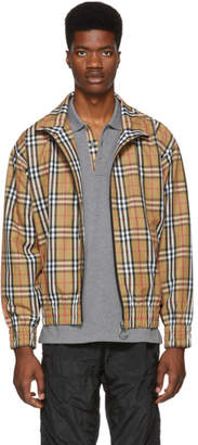 Burberry Yellow Vintage Check Lightweight Jacket