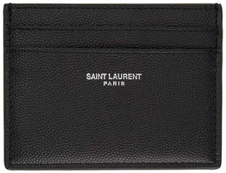 Saint Laurent Black East/West Card Holder