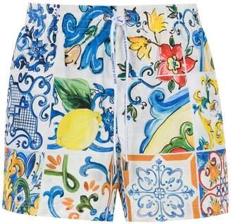 Dolce & Gabbana printed swim shorts