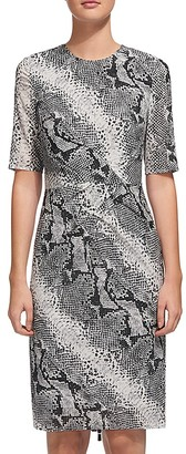 Whistles Snake-Print Silk Dress $300 thestylecure.com