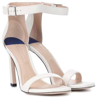 Stuart Weitzman Squarenudist 100 leather sandals