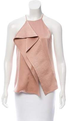 Halston Ruffle-Trimmed Sleeveless Top