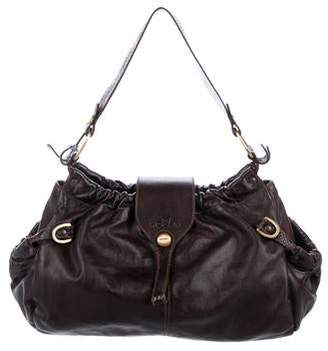 a0f6bb63e065 Pre-Owned at TheRealReal · Hogan Gathered Leather Hobo
