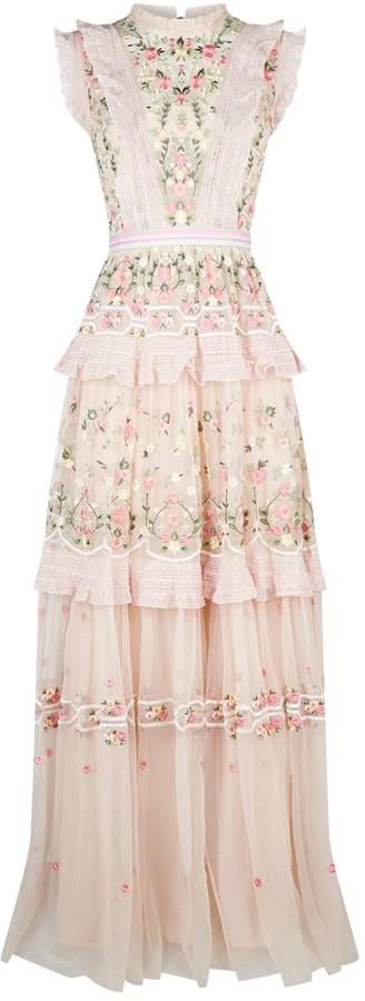Needle & Thread Lattice Rose Gown