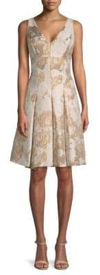 Aidan Mattox Jacquard A-Line Dress