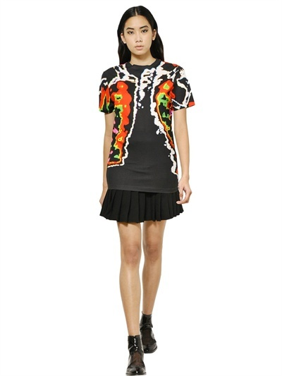 Christopher Kane Rib Cage Printed Cotton Jersey T-Shirt