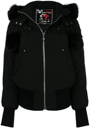 Moose Knuckles fur-trim padded jacket