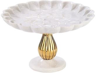 Mela Artisans Noor Cake Stand - White/Gold