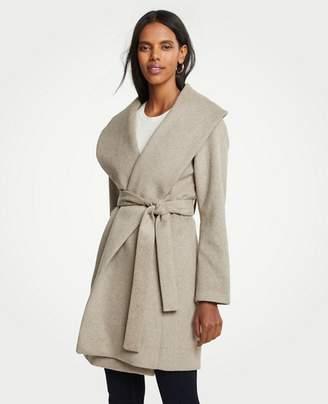 Ann Taylor Petite Shawl Collar Wrap Coat