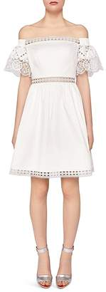 Ted Baker Loulah Off-the-Shoulder Lace-Inset Dress