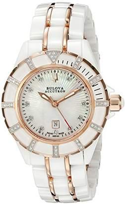 Accutron by Bulova Bulova Women's 65R140 Mirador Analog Display Swiss Quartz Two Tone Watch