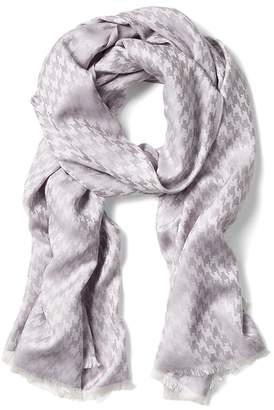 Banana Republic Shiny Houndstooth Rectangular Scarf
