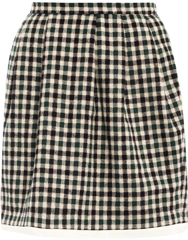 Raoul Checked mini bell skirt