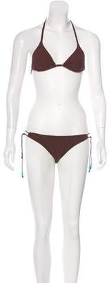 Melissa Odabash Terrycloth Two-Piece Swimsuit w/ Tags