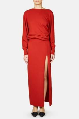 Jacquemus La Robe Jemaa Long Knit Dress - Red