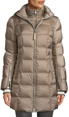 Bogner Rose Down-Filled Puffer Coat w/ Detachable Hood