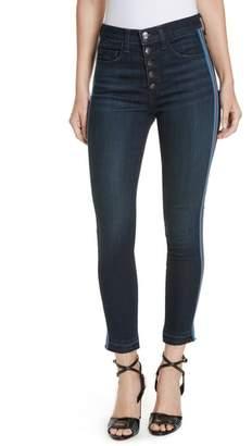 Veronica Beard Debbie Side Stripe Skinny Jeans