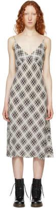 Marc Jacobs Grey Redux Grunge Plaid Strap Midi Dress
