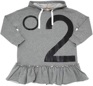N°21 Logo Printed Cotton Sweatshirt Dress