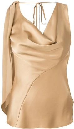 Roberto Cavalli cowl neck blouse
