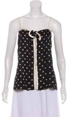 Marc Jacobs Silk Polka Dot Top