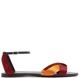 The Row Japanese-silk ribbon and leather sandals