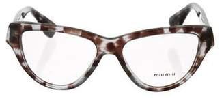 Miu Miu Tortoiseshell Cat-Eye Eyeglasses
