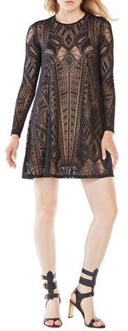 BCBGMAXAZRIABcbgmaxazria Long Sleeve Burnout Dress