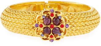 Jose & Maria Barrera Textured Crystal Hinge Bracelet
