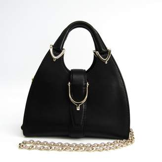 Gucci Black Leather Convertible Hobo Bag (SHA14358)