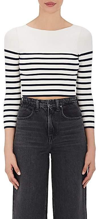 T by Alexander Wang Women's Striped Crop Sweater