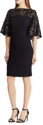 Ralph Lauren Embellished Jersey Dress