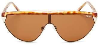 Quay Women's X ELLE FERGUSON Goldie Shield Sunglasses, 100mm