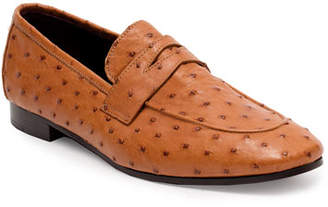 Bougeotte Flaneur Ostrich Penny Loafers, Cognac