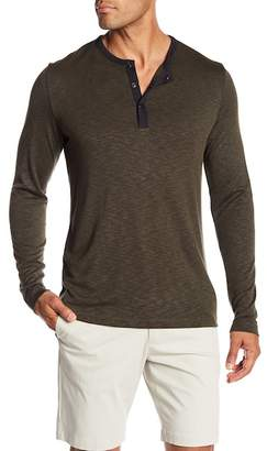 Theory Ringer Snap Button Henley Tee