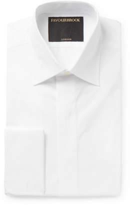 Favourbrook White Gatsby Double-Cuff Cotton-Poplin Shirt