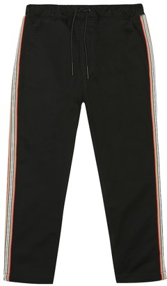 Burberry Icon Stripe cotton trackpants
