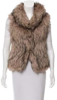 Yves Salomon Knitted Fur Vest