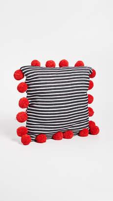 Gift Boutique Striped Pom Pom Pillow