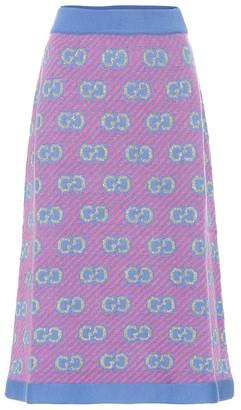 Gucci Wool-blend jacquard skirt