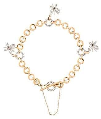 Roberto Coin 18K Diamond Butterfly Charm Bracelet