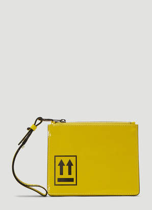 Off-White Off White Patent Clutch Bag in Yellow