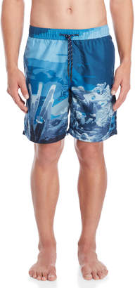 Trunks Surfside Supply Coral Reef Print Volley Swim